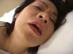 Mature japanese slut gets her plump cunt fucked balls deep