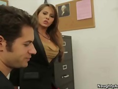 Madison ivy is a busty brunette teacher who gets fucked by big cock student