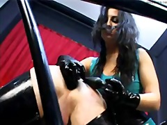 Mistress fucks her slave in the ass with strapon