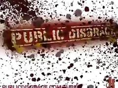 Anaal Sidumine Rusikaga Gangbang Avalikus Kohas