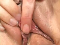 Bawdy wench selena steele's bushy pussy slammed with dick and face cum creamed