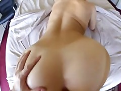Big cock fills gorgeous blonde in pov