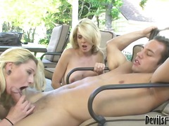 Hot angela attison and her ally has threesome