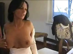 Rubbing her pussy in front of her webcam