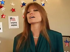 Busty milf darla crane takes two hard polls in her pussy on election day