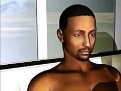 3D Gangbang Rasblandat Stora Bröst Stor Kuk