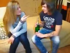 Amateurs Blondes Pipes Collèges Couple