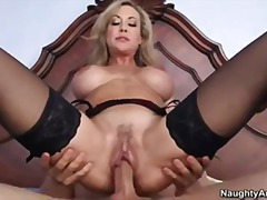 Milf brandi love catches sons friend peeping on her and fucks his hard cock