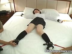 Sweet asian slut got tied