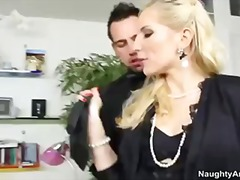 Blonde secretary ashley fires gets ass licked and pussy fucked by her boss