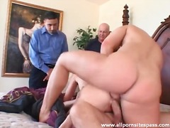 Wife in big cock double penetration scene