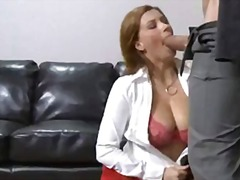 Horny office whore sara stone blocks her hot mouth with a thellock stiff shaft