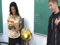 Ms. pele gives 1 of her students a memorable lesson in how to properly fuck the teacher.