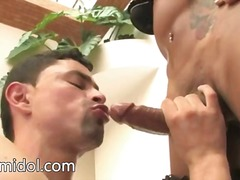Sweet shemale having cock sucked