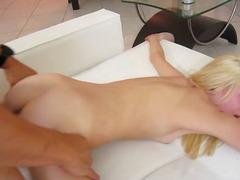 Blondīnes Loceklis Smagais Porno Izskūtās Tievās