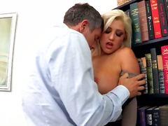 Beib Blondid Paar Hardcore Kontoris