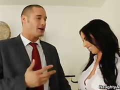 Hot secretary with big pierced tits brandy aniston gets fucked by her boss