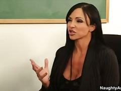 Big tit college professor jewels jade gets student to lick her pussy