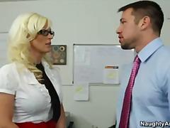 Blond Boss Großbusig Fersen Ungezogen