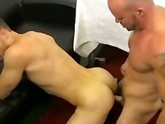 Two studs make fuck in front of the holy bible