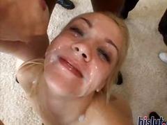 Annette fucks for cum