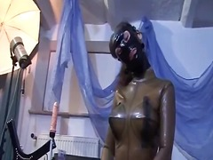 Kinky brunette slut gets in latex part5