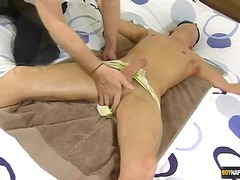 Josh tied and wanked till he cums - more gay tube porn