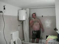 Włochaci Geje Dojrzałe Prysznic Solo