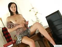Perfect tit cutie pussy rub