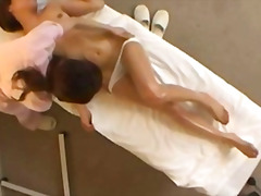 Reluctant orgasm at spa massage part 1