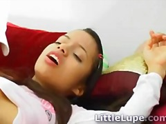 Rough riding teen latina gets a facial