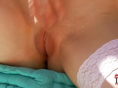 Tina kay bends over and shows