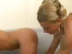 Rambut Blonde Kolej Lesbian Jilat Lancap