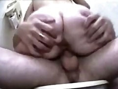 Russian babe & soldier having sex in toilet