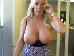 Hot milf with huge tits knows how to suck