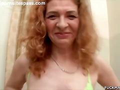 პირში აღება ქალის თეთრეული