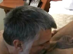 Two gay dudes suck dick and get pounded