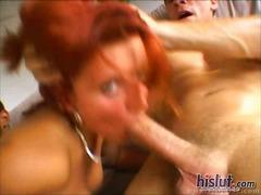 Boquete Ruiva Sexo A Três Peitões