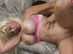 Big breasted milf takes a big dick