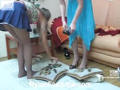 Mix of videos by nylon feet line