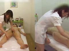 Japoneses Lèsbic Massatge Voyeur Dit/amb el dit
