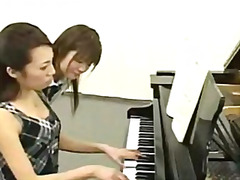 Piano lesson given to young student, then she is fucked by teacher!