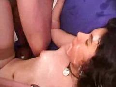 Brunette Bukkake Facciale Orgie Sesso Orale