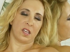 Huge natural tits and tight cougar pussy