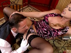 Cathy heaven seduced by waiter