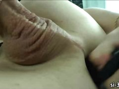 Masturbeerimine Shemale Soolo Õrritus Sukad