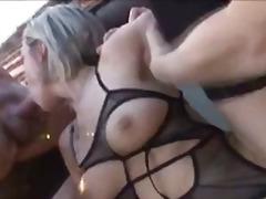 Бисексуални Блондинки Свирки Яко Ебане Мъж-Мъж-Жена