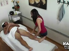 Sexy asian masseuse arial rose with