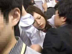 Azijietės Japonės Oralinis Viešumoje Putka
