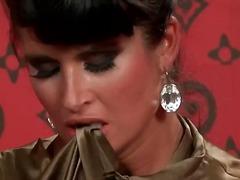 Срциња Вагинални Усни Облечена Жена Каубојка